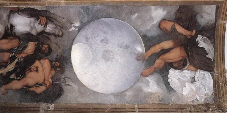 Caravaggio,figli di Crono ossia di Giove, Nettuno, Plutone, rispettivamente simboli dello zolfo, del mercurio e del sale.