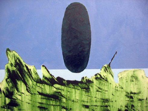 Renzo Greco: Tantrica olio su tela 30x40