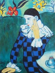 Arlecchino pensoso-Picasso