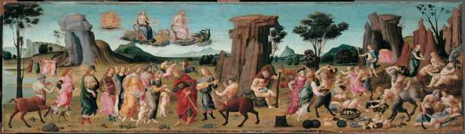 Les Noces de Thetis et de PelÈe Bartolomeo di Giovanni (connu depuis 1465-vers 1494) Paris, musÈe du Louvre